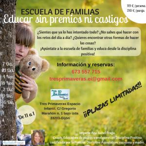 Escuela de Familias - Educar sin Premios ni Castigos @ Tres Primaveras Espacio Infantil | Gijón | Principado de Asturias | España