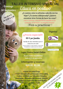 "Taller Intensivo Vivencial ""Educa en Positivo"" @ Alma Salud | Almadén | Castilla-La Mancha | España"